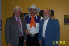 John with Baxter Black and Ron Lovercheck at an event at Eastern Wyoming College in 2009.