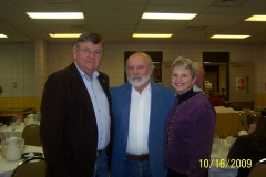 John with Governor Dave Freudenthal and his wife, Nancy, at an event at Eastern Wyoming College in 2009.