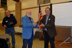 Jon receives the Alumnus of the Year award from Larry Donnelly as co-honoree Steven T. Callan looks on at the Orland Alumni Association Annual Meeting in Orland, CA, in 2019.