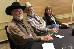 John with Robert D. McKee and his wife, Kathy McKee, at the WWA convention in Billings in 2018.