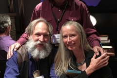 John with Mike and Kathy Gear at the WWA convention in Billings in 2018.