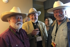 John with Robert D. McKee and Edward Massey at the WWA convention in Billings in 2018.