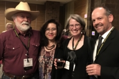 John and his wife, Rocio, and Matthew and Jennifer Mayo at the WWA convention in Billings in 2018.