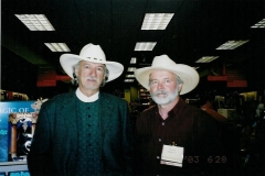 John and W.C. Jameson at the WWA convention in Helena, MT, in 2003.