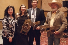 Rocio Nesbitt, Lariat Award Winner Leah Hultenschmidt and Don D'Aura for Leisure Books (Dorchester Publishing Co.), and Spur Awards winner John D. Nesbitt, Spur Awards Banquet, 2010 Western Writers of America Convention, Knoxville, Tennessee, USA