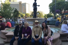 John with Robert D. McKee, Micki Fuhrman Milom, Tiffany Schofield at the WWA convention in 2018, in Billings, MT.