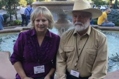 "John and Micki Fuhrman Milom, co-writer of ""Rangeland Lament"" at the WWA convention in 2018, in Billings, MT."